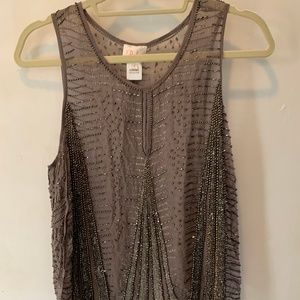 Parker Sequined Sheer Top - Small